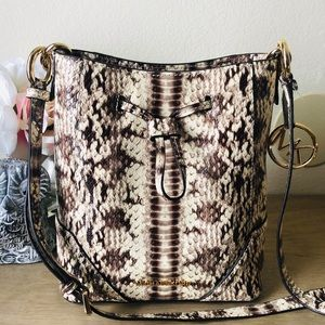Michael Kors Small Embossed snake Bucket Bag
